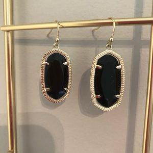 Kendra Scott Elle Gold Drop Earrings Black